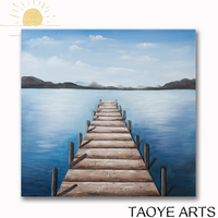 Scenery bedroom oil painting fabric scenery painting designs
