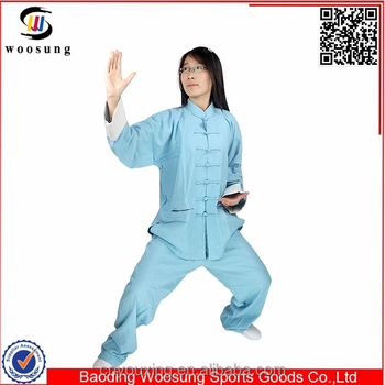 Taichi uniform cotton and linen kung fu martial art