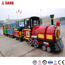 Amusement park mini electric trackless tourist train rides for sale