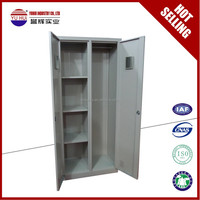 indian style metal clothes wardrobe for sale / grey steel wardrobe locker closet