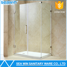 Luxury Bathroom Frameless Shower Partition 10mm Tempered Glass 2 sided shower room
