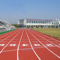 IAAF Certified Professional Full Poured Athletic RubberTrack/runway/race track