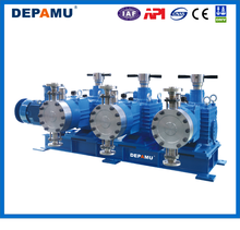 triple-head heavy flow API approval SS hydraulic diaphragm metering pump 3DPMZA with vertical motor