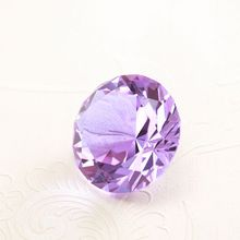 Noblest Decorative Purple Crystal Glass Diamond for Lovers Gift