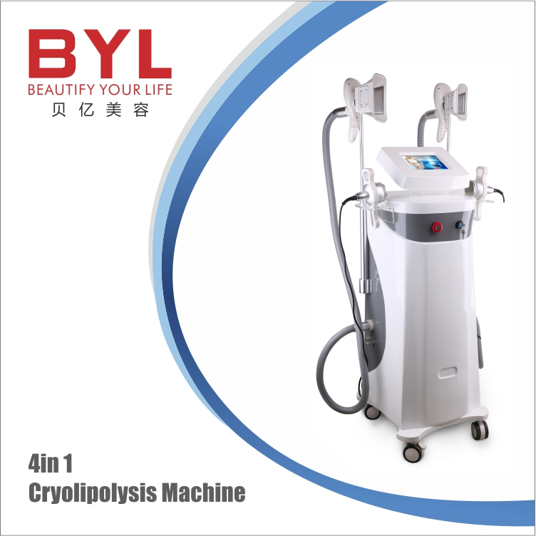 CE / FDA approved 4 cryo handles fat loss body slimming cryolipolysis vacuum cavitation slimming machine