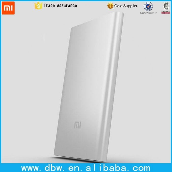 original XIAOMI 5000 mAh power bank slim design portable power bank for xiaomi brand 5000mah power