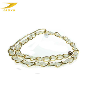 Fashion Chain Metal Belts , Qearl Chain Belt for Ladies
