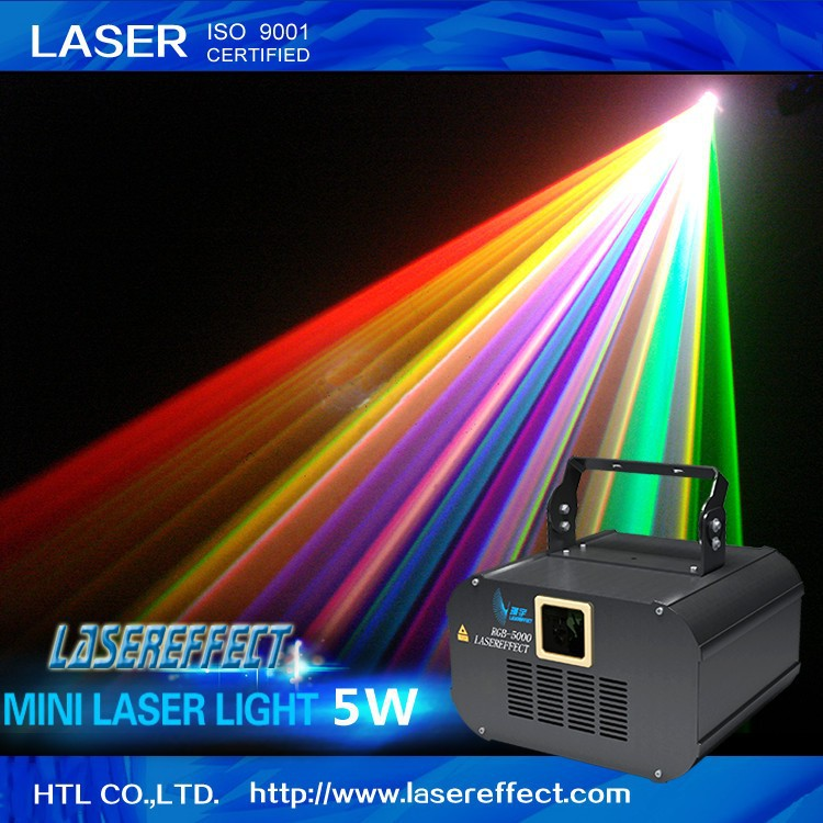 5W RGB full color indoor mini pub disco laser light for party and club