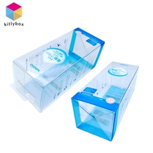 Luxury Foldable Transparent Plastic/PVC Cosmetic Packaging Box