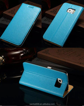 genuine leather material blank cell phone case for samsung galaxy s6 edge in stock