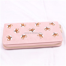 2017 New Women Wallet PU purse leather Embroidered Wallet