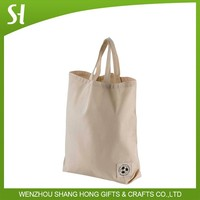 Custom eco friendly natural white cloth cotton bag recyclable for students library school promotion