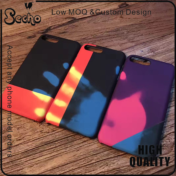 For iPhone 7 Temperature Sensor Case Discoloration Gradient Color Cover Phone Cases for iPhone 6 6s Case