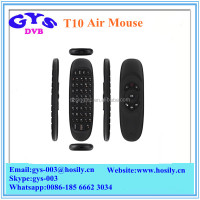 Dual Sides T10 Air mouse 2.4GHz Rechargeable Wireless Fly Mouse with keyboard