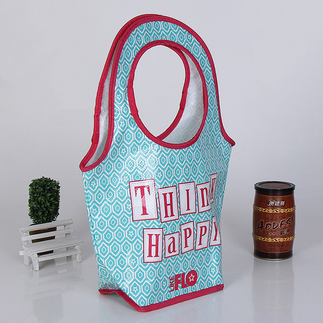Welcome 100gsm Or Other Color Shiny Tote Shopping 145g Glossy Laminated Arctic Cooler Totes - Non Nylon Handle Pp Woven Bag