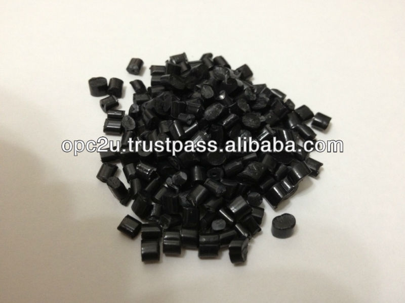 plastic raw material recycle black