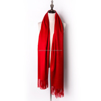 cashmere knit scarf with tassels