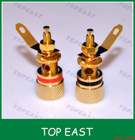 Wholesale Copper black & red speaker terminal binding post gold plated CE ROHS