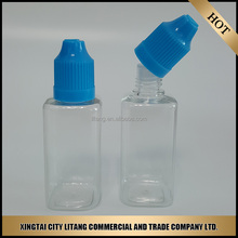 Hot sales square empty plastic e liquid oil bottles from China manufactory