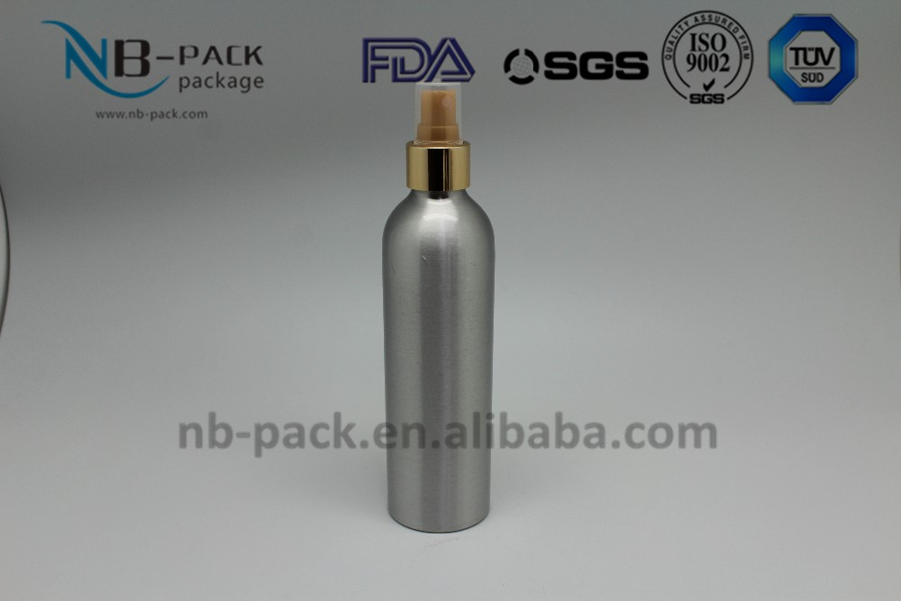 Trade assurance 60 ml 120 ml 500 ml aluminum bottle with Black Atomizer Perfect for Essential Oil