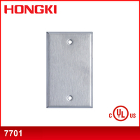 UL/CUL 1 Gang Blank Stainless Steel Wall plate 7701
