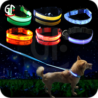 Hot Factory Wholesale Custom Nylon Led Flashing Elastic Dog Collar