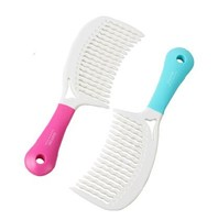 NEW design plastic wavy lines comb with silicone grip