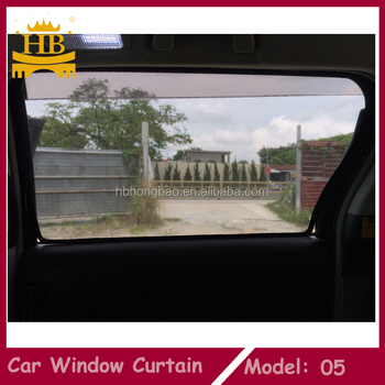 Factory price magnetic mesh car window sunshdae for Toyota haice
