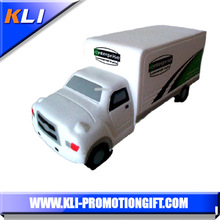 Custom logo PU foam anti stress truck van shaped kids toys advertising new product