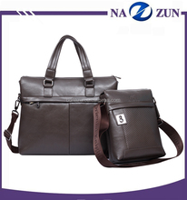 Good quality black briefcases leather bag custom mens leather laptop bag for office
