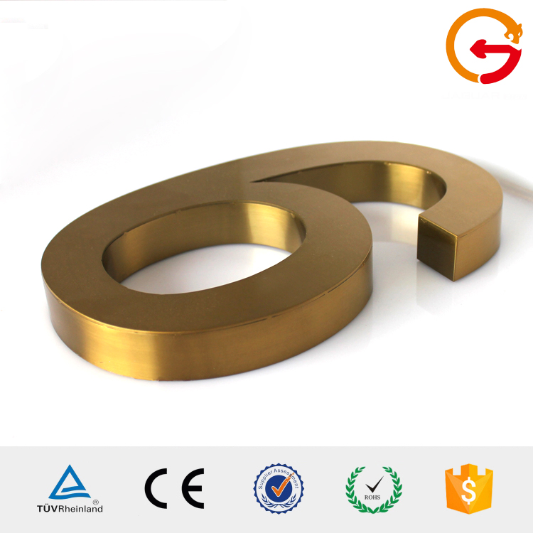Online shopping China supplier solid carved metal alphabet 3d letters and door numbers