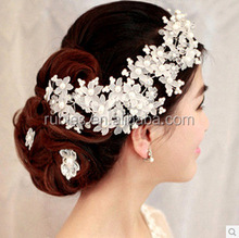 Handmade Wedding Women Lace Pearl <strong>Hair</strong> <strong>Accessories</strong>