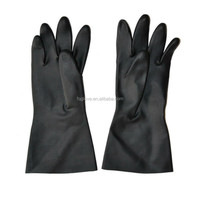 Black Neoprene Glove with Diamond Pattern on Palm