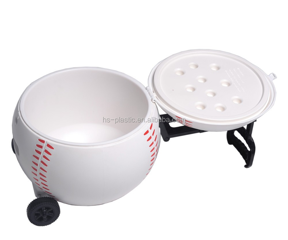 20L plastic outdoor sports baseball ice cooler table/box