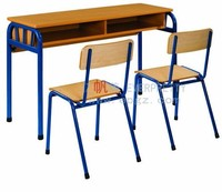 Popular Double Desk and Chair of School Furniture For Africa School