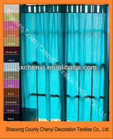 ready made polyester tab top curtain for window