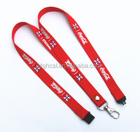 wholesale polyester printing lanyard with neck safety clip