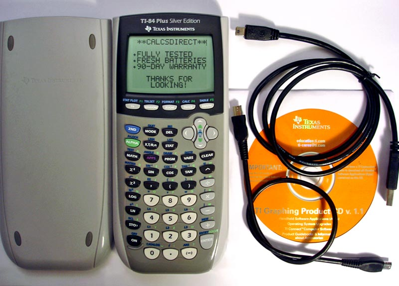 Refurbished TI-84 Plus Silver Edition Graphing Calculator