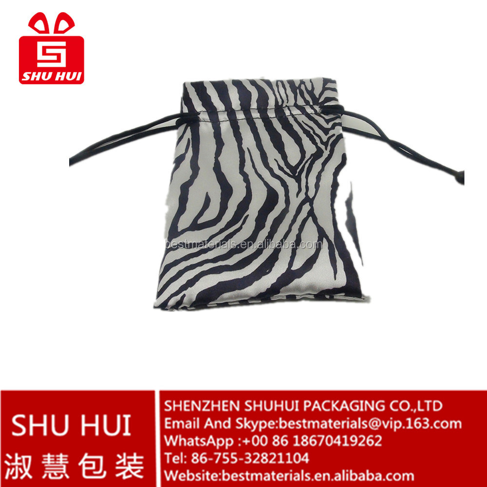 Gift items silk satin fabric bag hair weave bag philippine export products satin bag