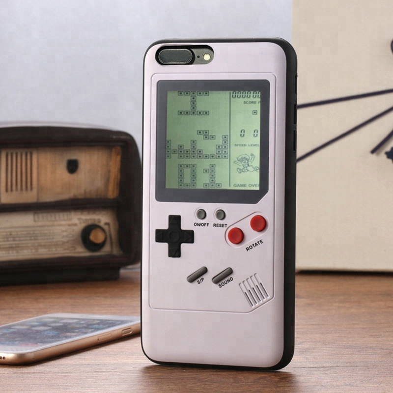 Gameboy Tetris Phone Case For <strong>iPhone</strong> X 7 8 Plus Retro Game Console Cover For <strong>iPhone</strong> 6 6S Plus Gift Fitted Case