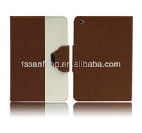 Exquisite pu leather flip case for ipad mini/stand pouch for ipad leather case/tablet accessories