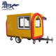 JX-FR280H China Street Mobile Metal Hot Dog Food Kiosk,Stainless Steel Food Service Carts with Wheels