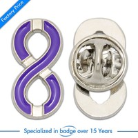 Hot selling cheap custom colorful metal badge at factory price