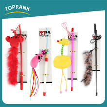 Supply Quality Wholesale Fishing Teasers Play Wand cat toys with catnip