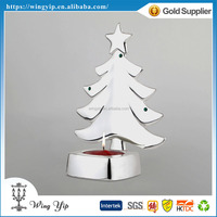 Manufacturer hot sales Christmas Tree Tealight Candle Metal Christmax hanging for gift