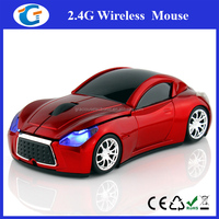 2.4Ghz USB Wireless Optical Mouse Driver Fashionable Car Mouse