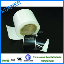 self adhesive custom labels material, blank jump roll