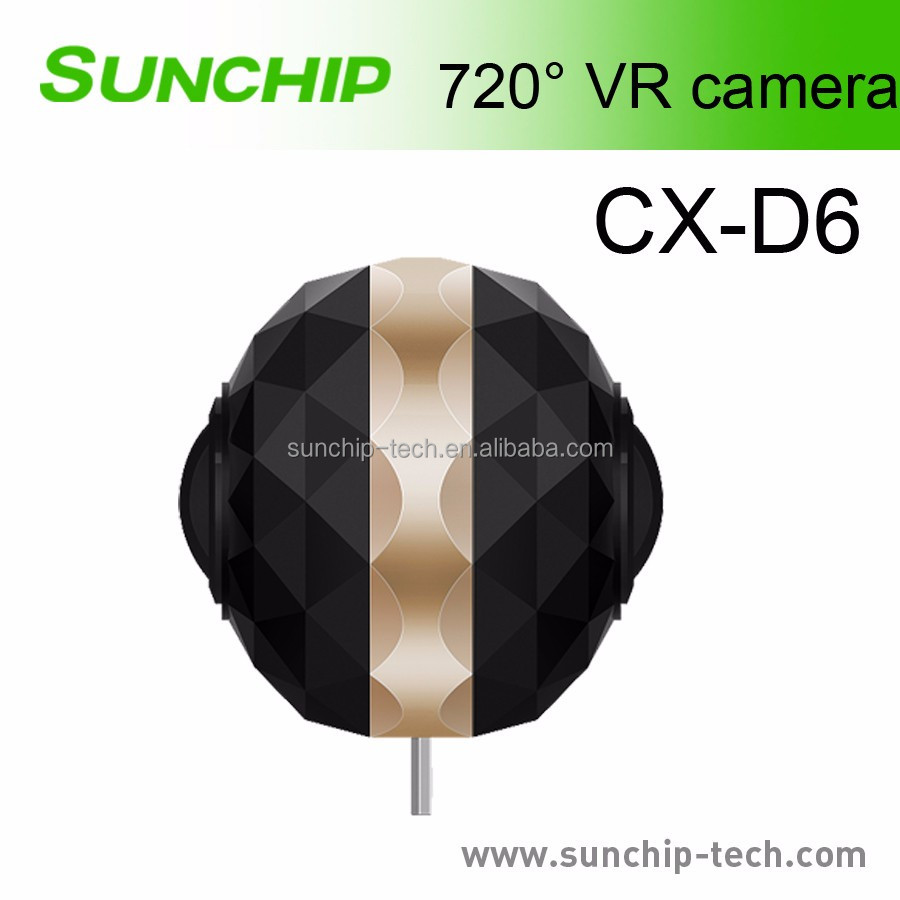 2017 New design 360 Dual Lens 720 degree VR Panorama camera sport DV CAM