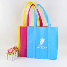 Custom promotional foldable heavy duty 100gsm non woven reusable shopping bag