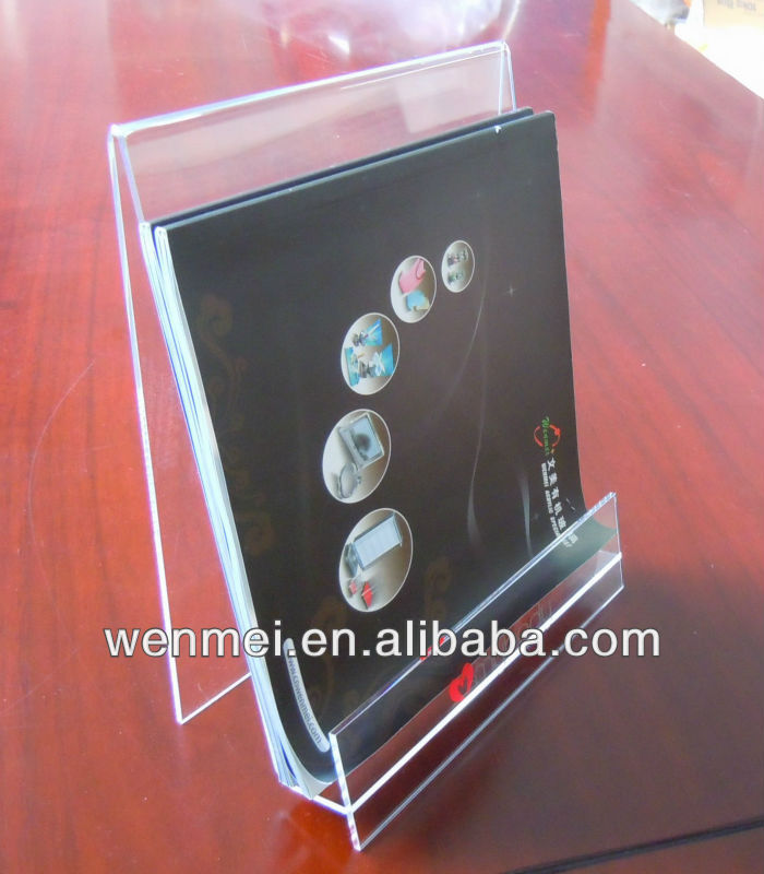 Clear acrylic brochure display rack, magazine holder